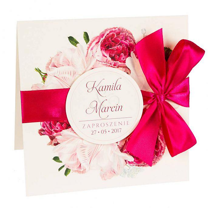 Zaproszenia ślubne z kwiatami Piwonii w12