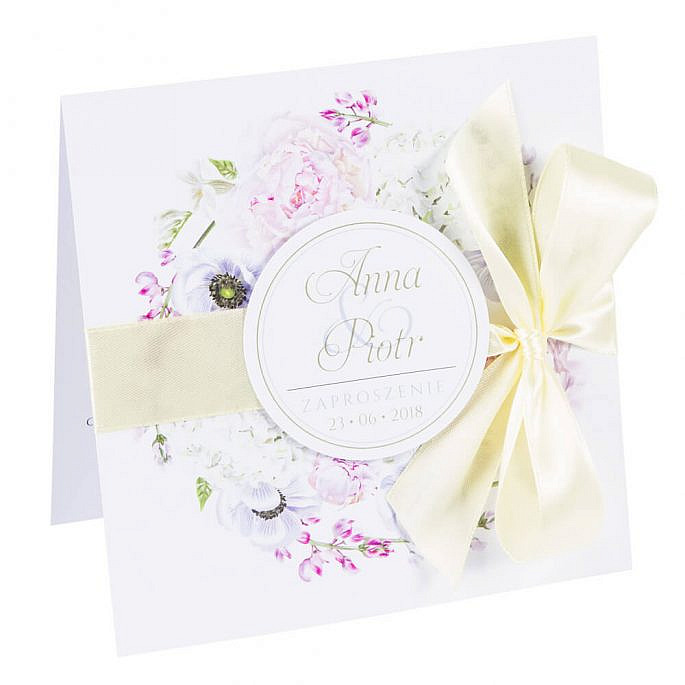 Zaproszenia ślubne z motywem kwiatowym Florals w10