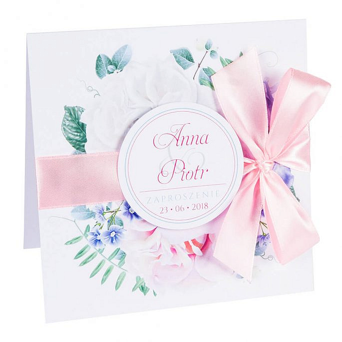 Zaproszenia ślubne Florals w11
