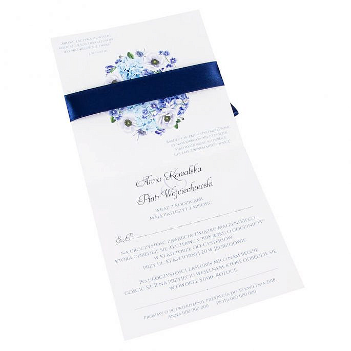 Zaproszenia ślubne Florals w12
