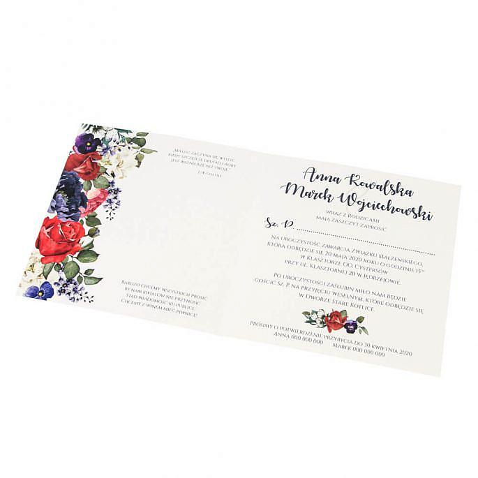 Zaproszenia ślubne z kwiatami w11