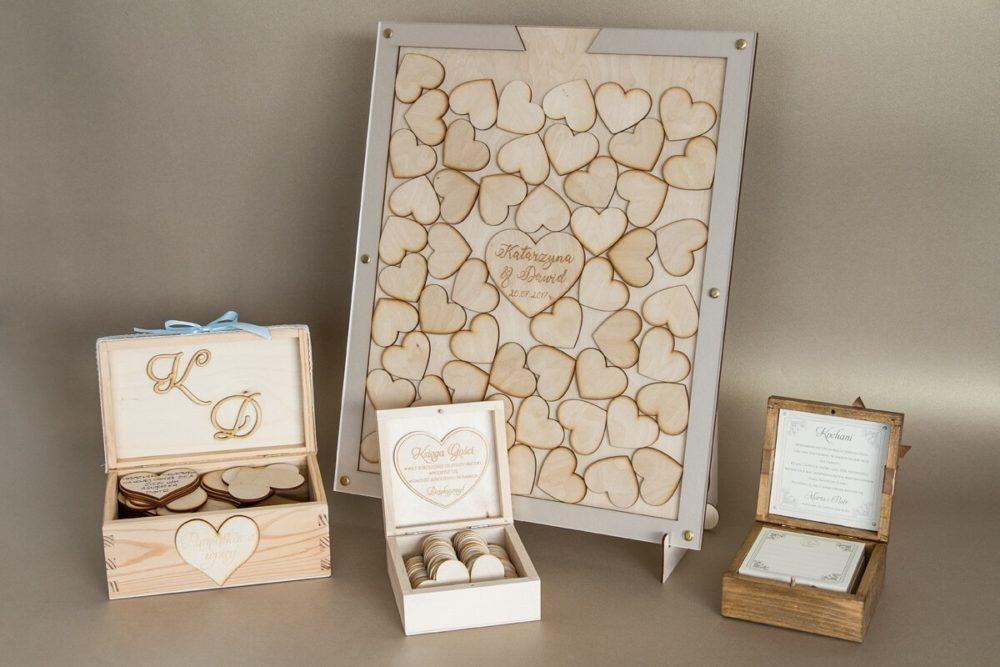księgi gości na wesele drewniane oryginalne