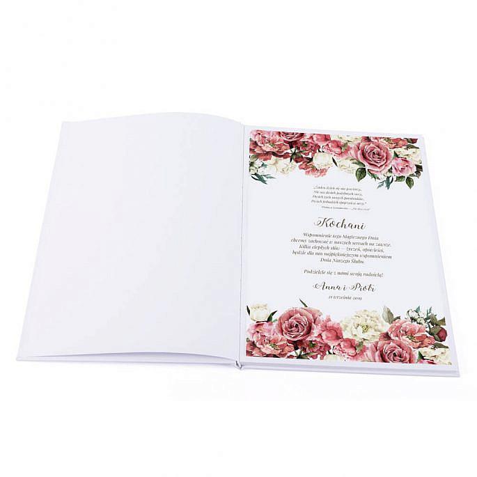 Księga gości Flowery wzór 4 pierwsza strona