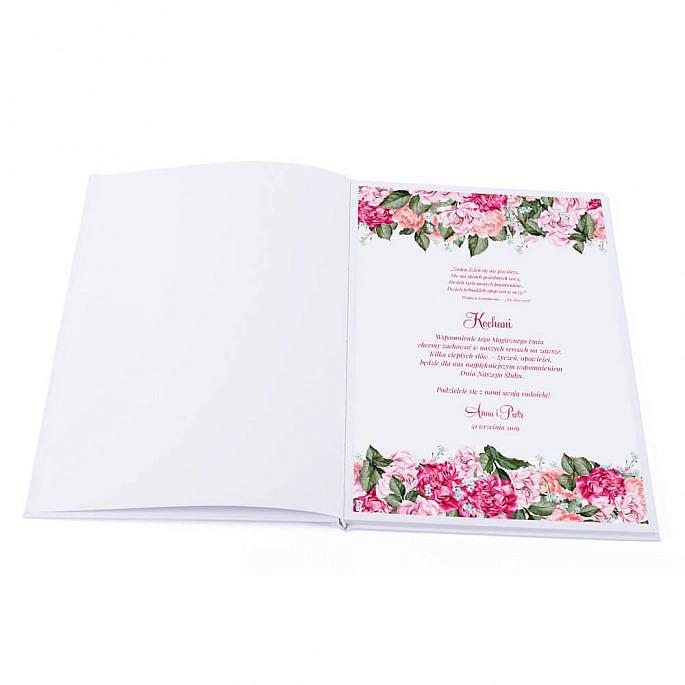 Księga gości Flowery wzór 5 pierwsza strona