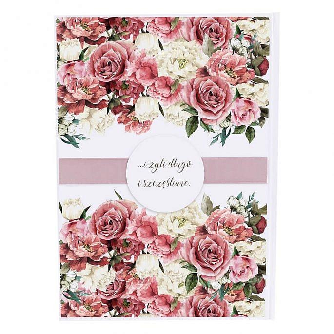 Księga gości Flowery wzór 4