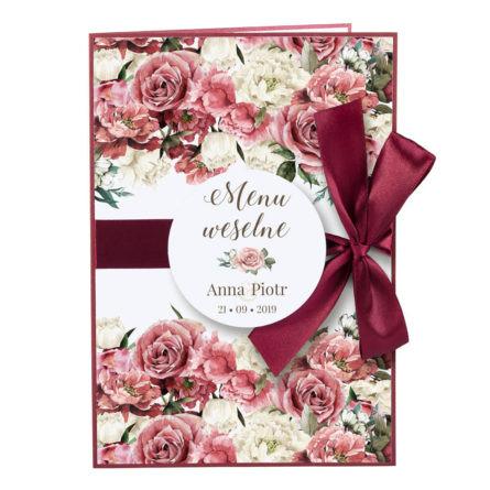 Menu weselne Flowery w4