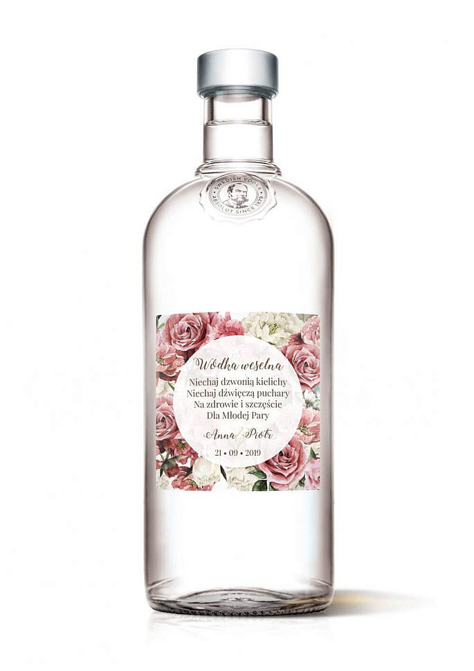 Naklejki na alkohol Flowery w4