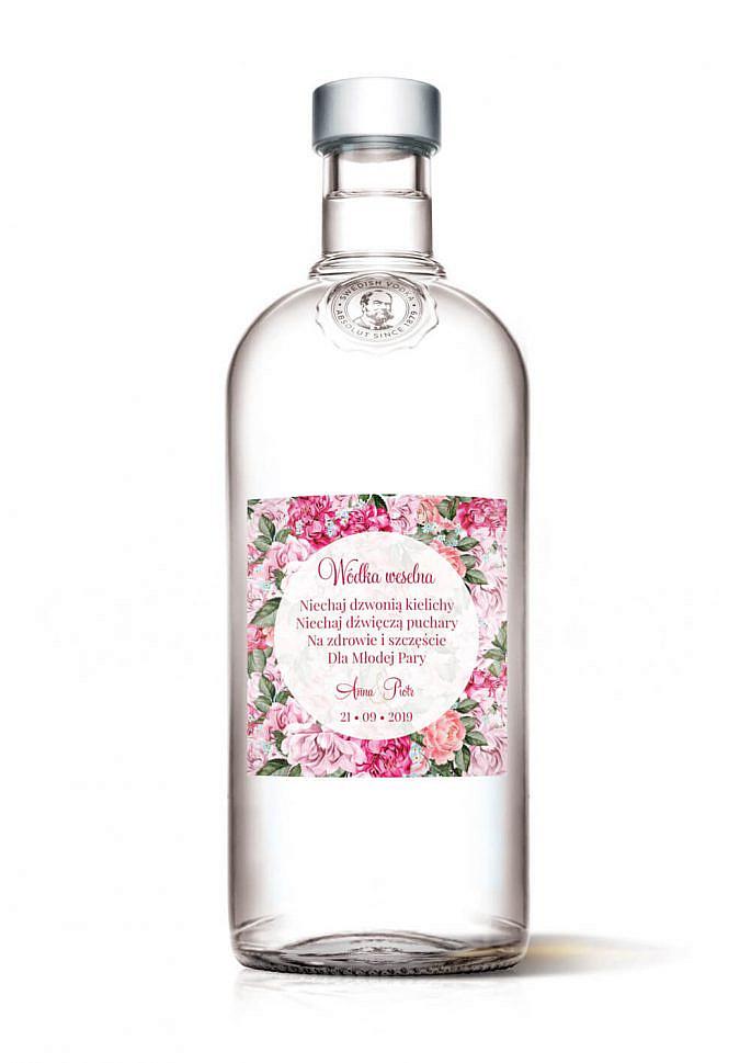 Naklejki na alkohol Flowery w5
