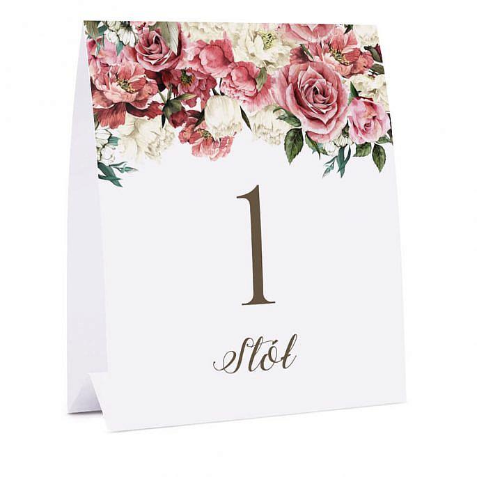 Numer na stół Flowery w4