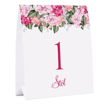 Numer na stół Flowery w5