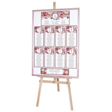 Plan stołów weselnych Flowery w4