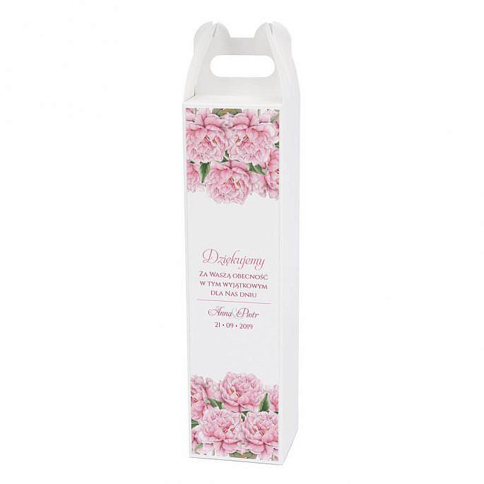 Pudełko na alkohol z kwiatami Piwonii w3