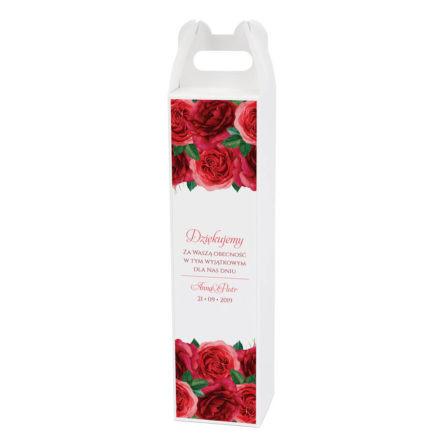 Pudełko na alkohol z kwiatami Róży w3