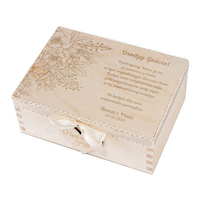 księga gości. Drewniane pudełko na serca