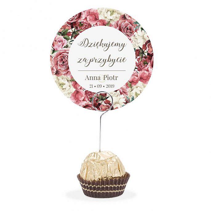 Winietka weselna na szpilce Flowery w4