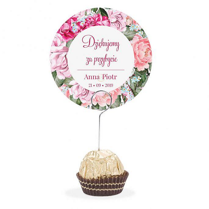 Winietka weselna na szpilce Flowery w5