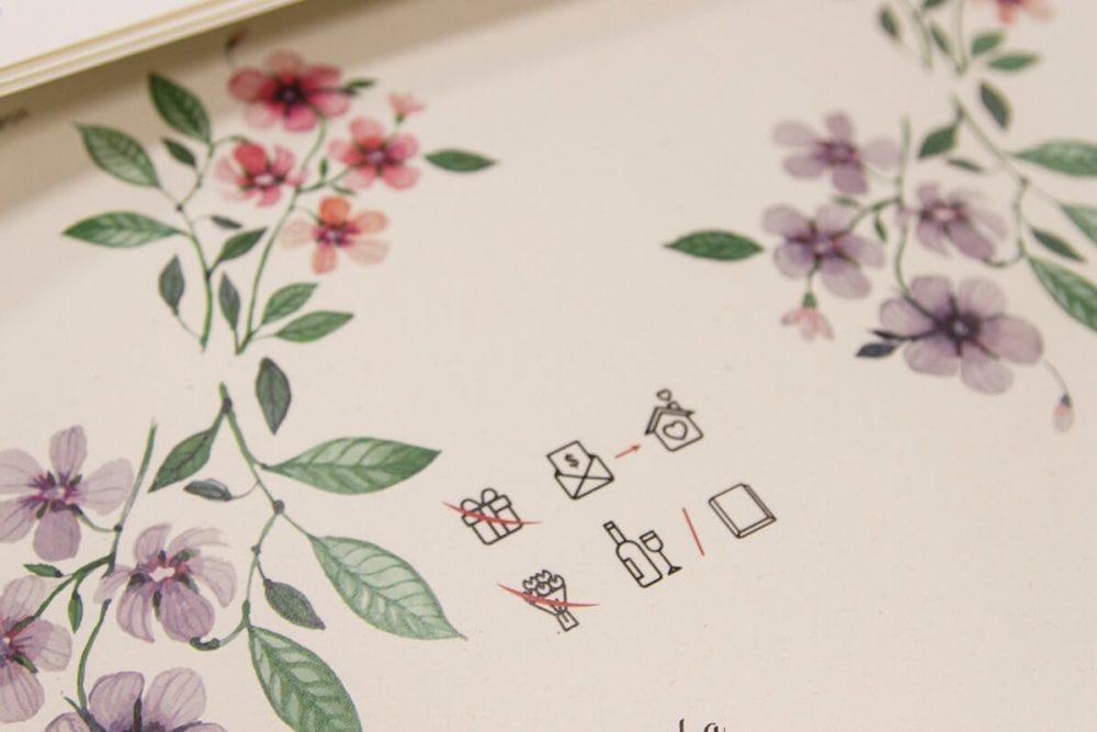 rebus zamiast wierszyka o prezentach na zaproszenia ślubne