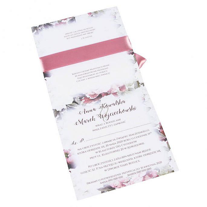 Zaproszenia ślubne Flowery w6