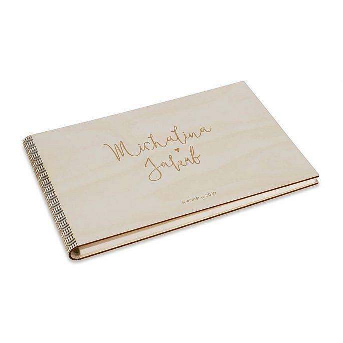 ładna księga gości weselnych na wpisy