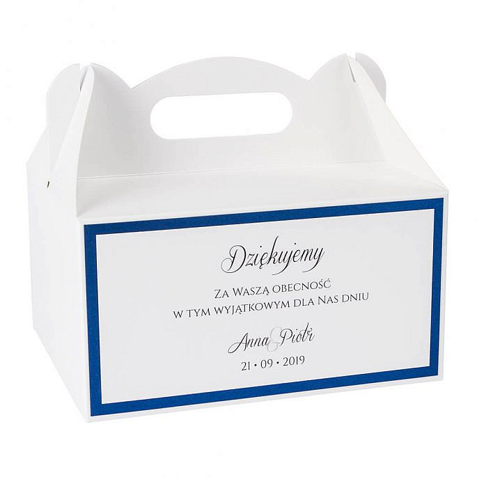 pudełka na ciasto z papierem ozdobnym