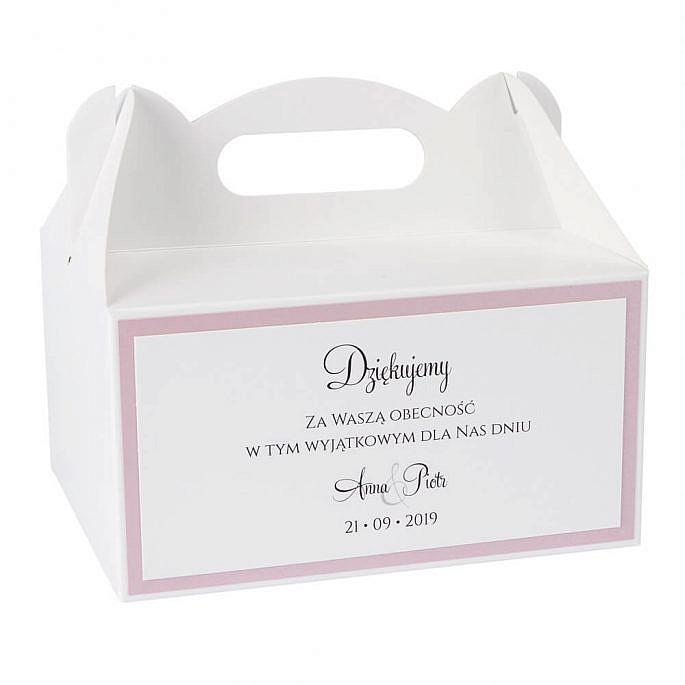 pudełka na ciasto w stylu glamour