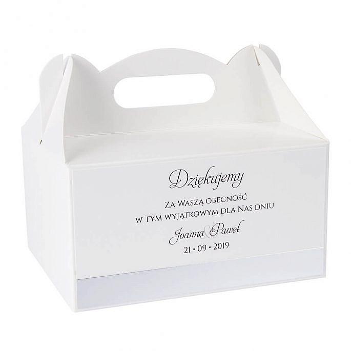 pudełka na ciasto dla gości