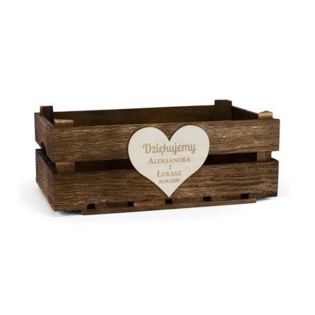 skrzynka na prezenty dla rodziców na wesele z sercem