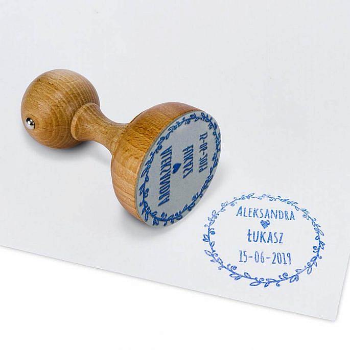 stempel ślubny pieczęć gałązka oliwna