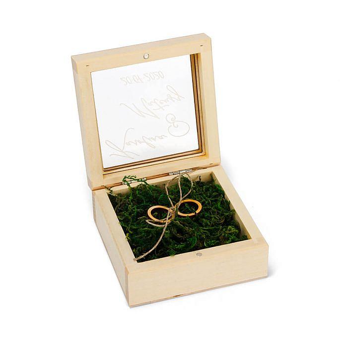 pudełko na obrączki z grawerem