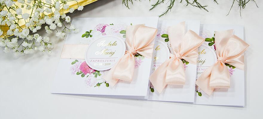 Chwalebne Zaproszenia ślubne oraz dopasowane dodatki | artMA ZA53