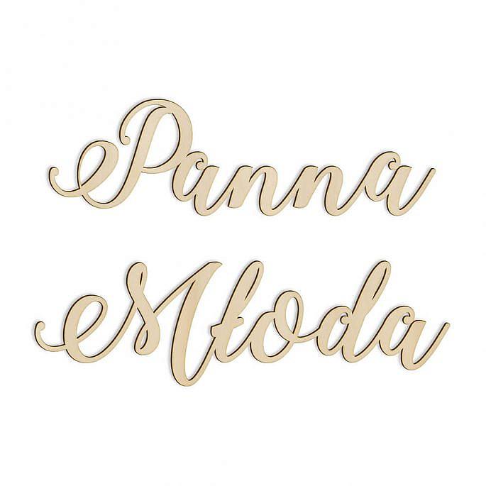 drewniany napis panna młoda dekoracja na salę weselną
