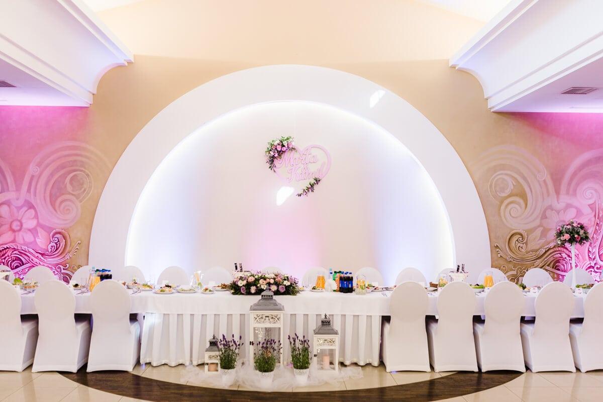 sala wesela oświetlenie