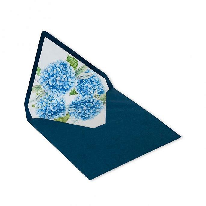 koperta na zaproszenie kwiaty nadruk