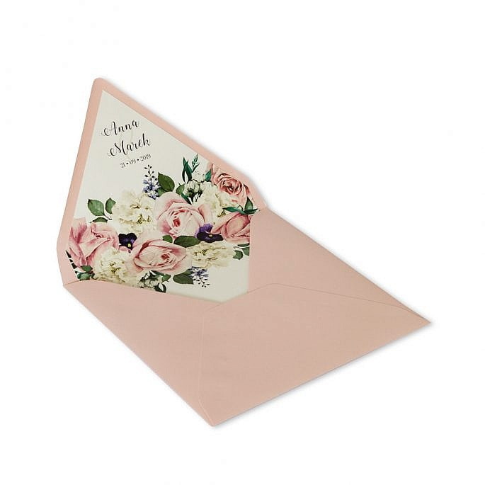 koperta z kwiatami personalizacja