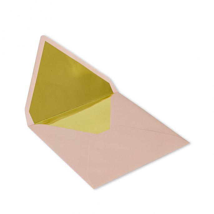 koperta ze złoceniem wewnątrz środek złoty kwadratowa