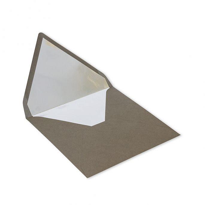 koperta srebrny środek kwadratowa