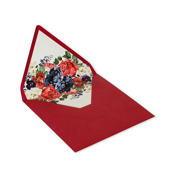 koperta kwiaty motyw kwiatowy czerwony ciemny bordowy