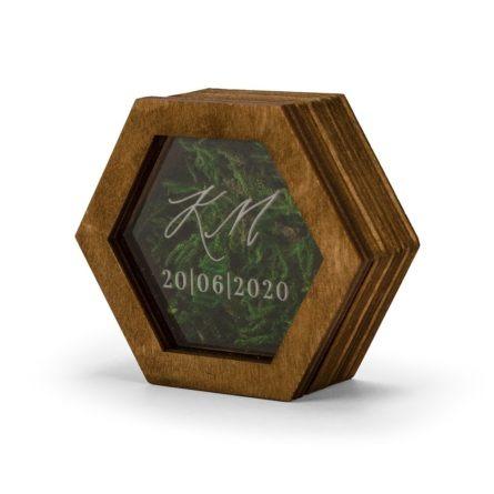 pudełeczko grawerowane na obrączki ślubne