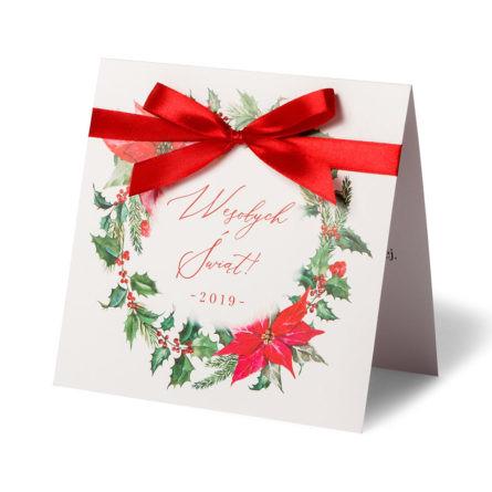 Kartki świąteczne ze wstążką