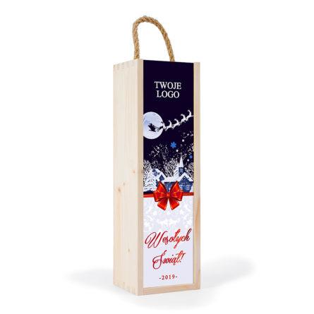 skrzynka na wino święta