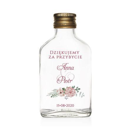 butelka podziękowanie dla gości weselnych 100 ml
