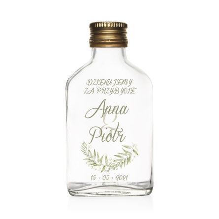 Butelki podziękowania dla gości greenery