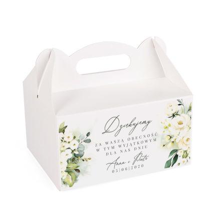 pudełko na ciasto z kolekcji zielone kwiaty