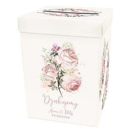 pudełko na prezenty ślubne z nadrukiem