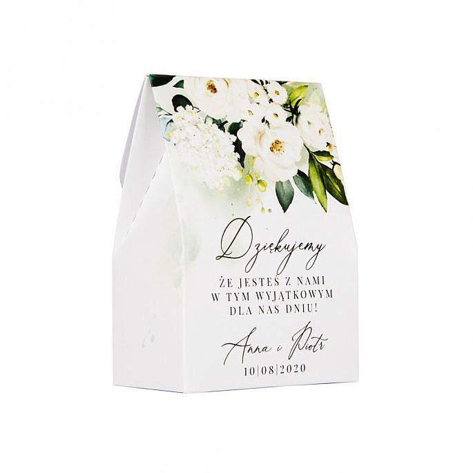 pudełko dla gości weselnych w ramach podziękowania