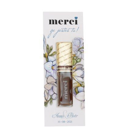 podziekowanie-weselne-merci-z-kwiatami-frezji