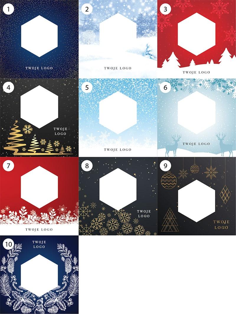 Wzory kartek świątecznych tła dowyboru