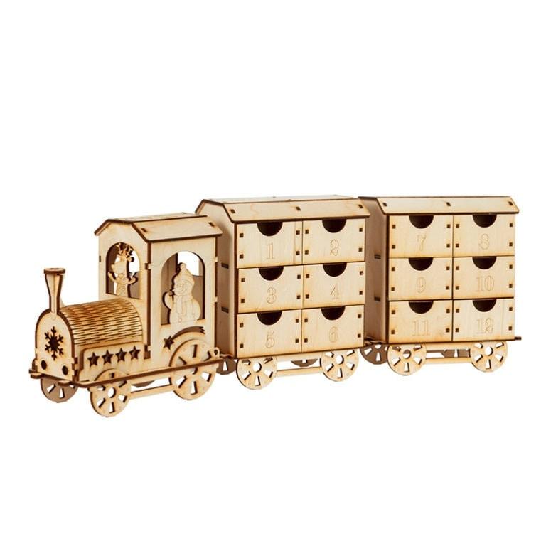 kalendarz adwentowy pociąg dla chłopca