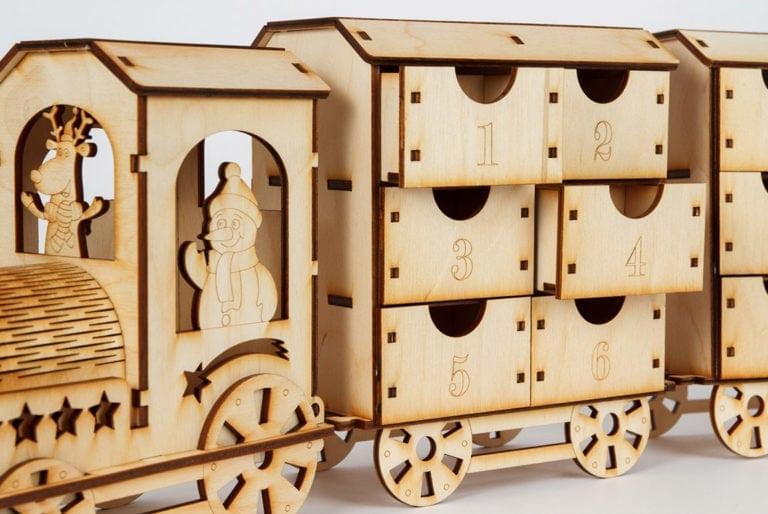 kalendarz adwentowy lokomotywa