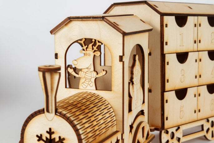 kalendarz adwentowy z drewna
